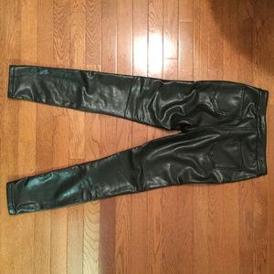 Ashley Mason faux leather pants black 25 xs euc